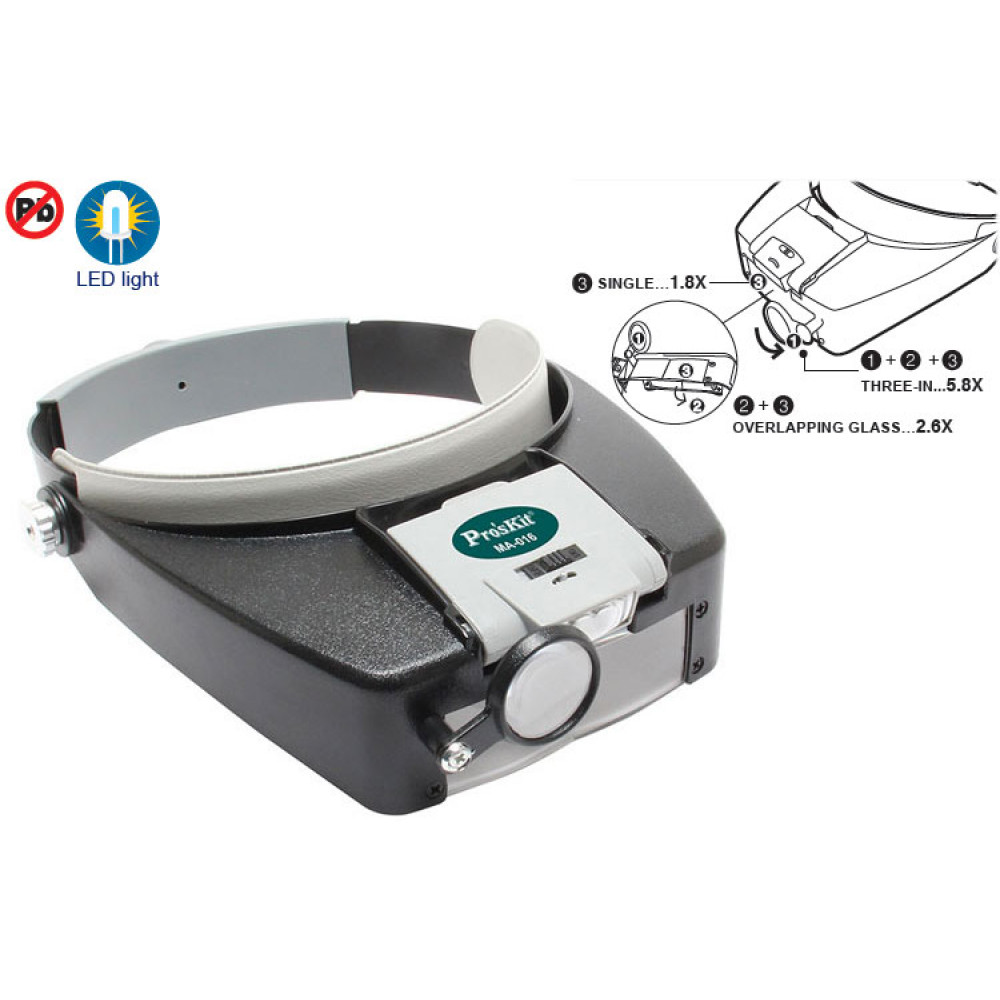 Headlamp  Magnifier with Backlight  ProSkit MA-016