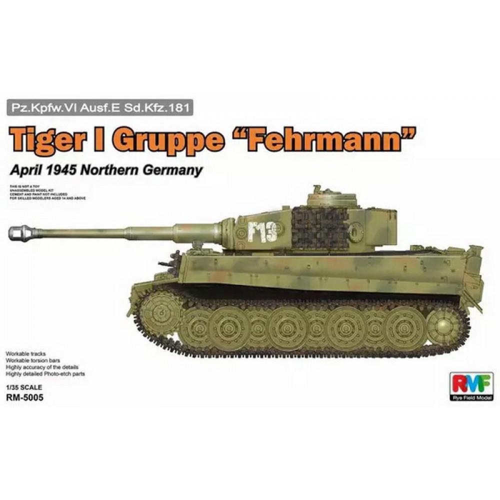 "Pz.Kpfw.VI Ausf.E Tiger I Gruppe ""Fehrmann""  1/35 RFM  5005"