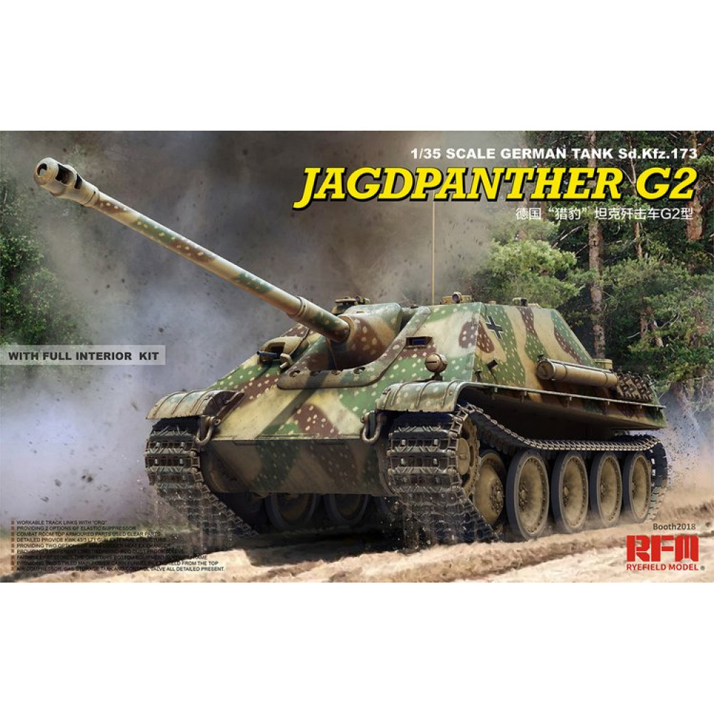 Jagdpanther G2 with full interior & workable track links 1/35 RFM  5022