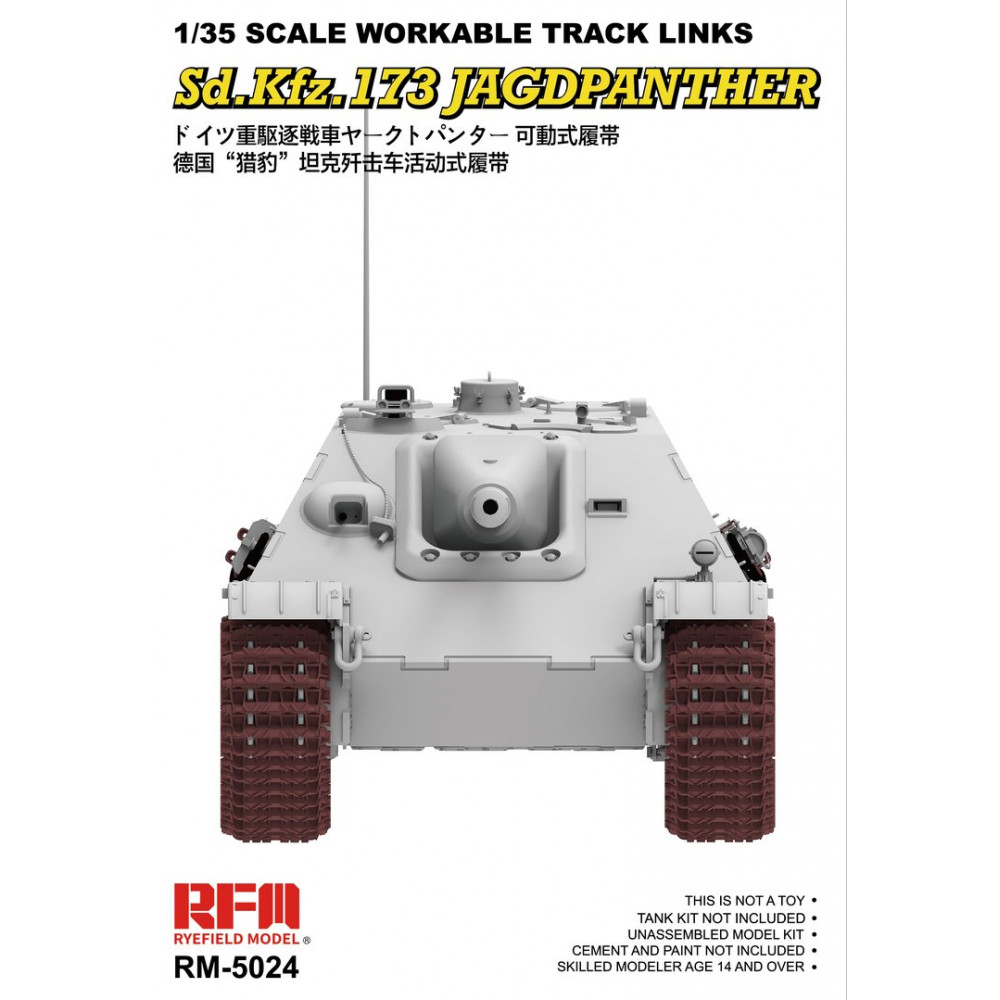Workable Track Links for Jagdpanther Ausf.G2  1/35 RFM  5024