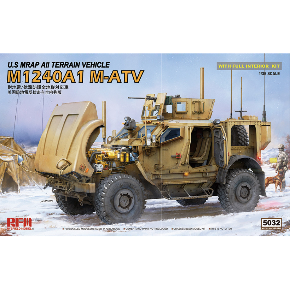 M-ATV M1240A1 with full interior kit 1/35 RFM 5032