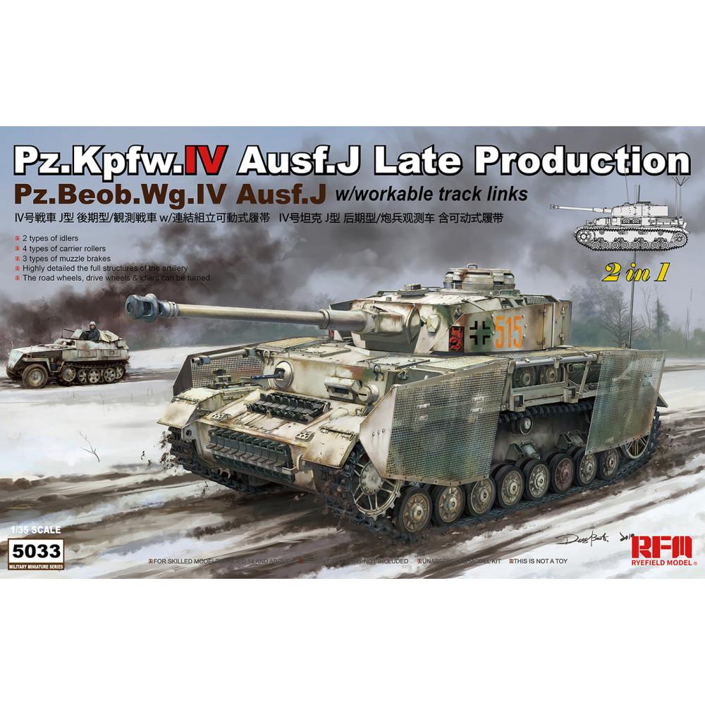 Pz.Kpfw.IV Ausf.J Late Production Pz.Beob.Wg.IV Ausf. J 2 in 1 1/35 RFM 5033