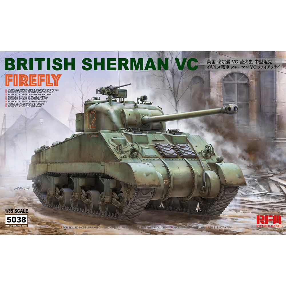 BRITISH SHERMAN VC FIREFLY 1/35 RFM  5038