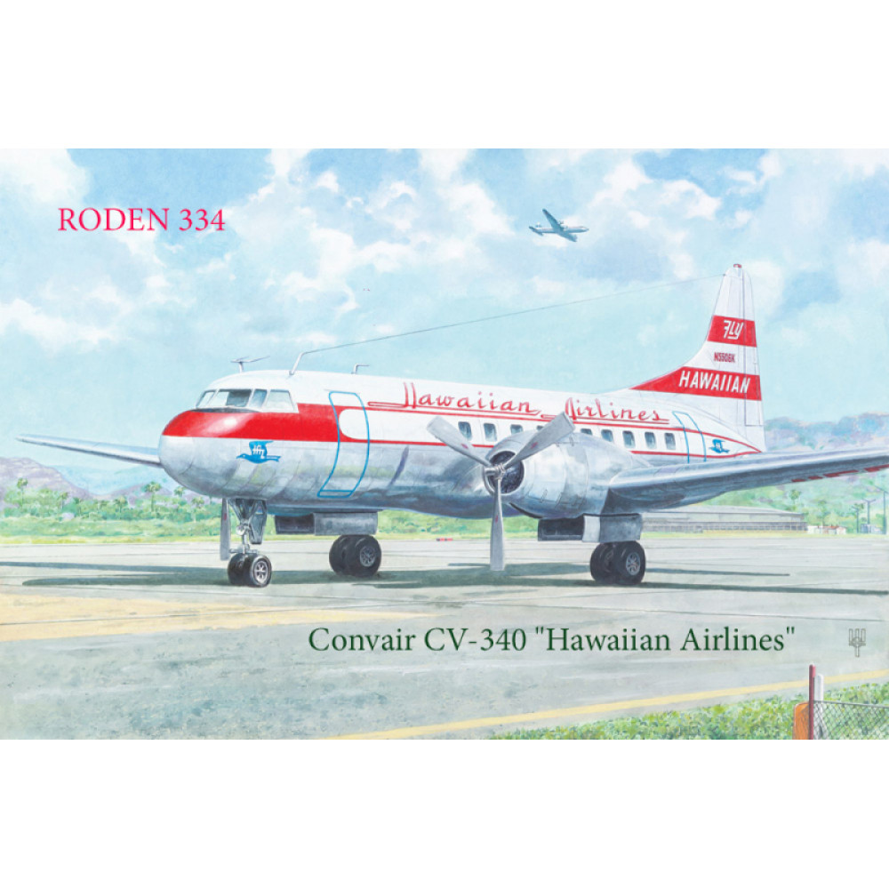 Convair CV-340 Hawaiian Airlines 1/144 Roden 334