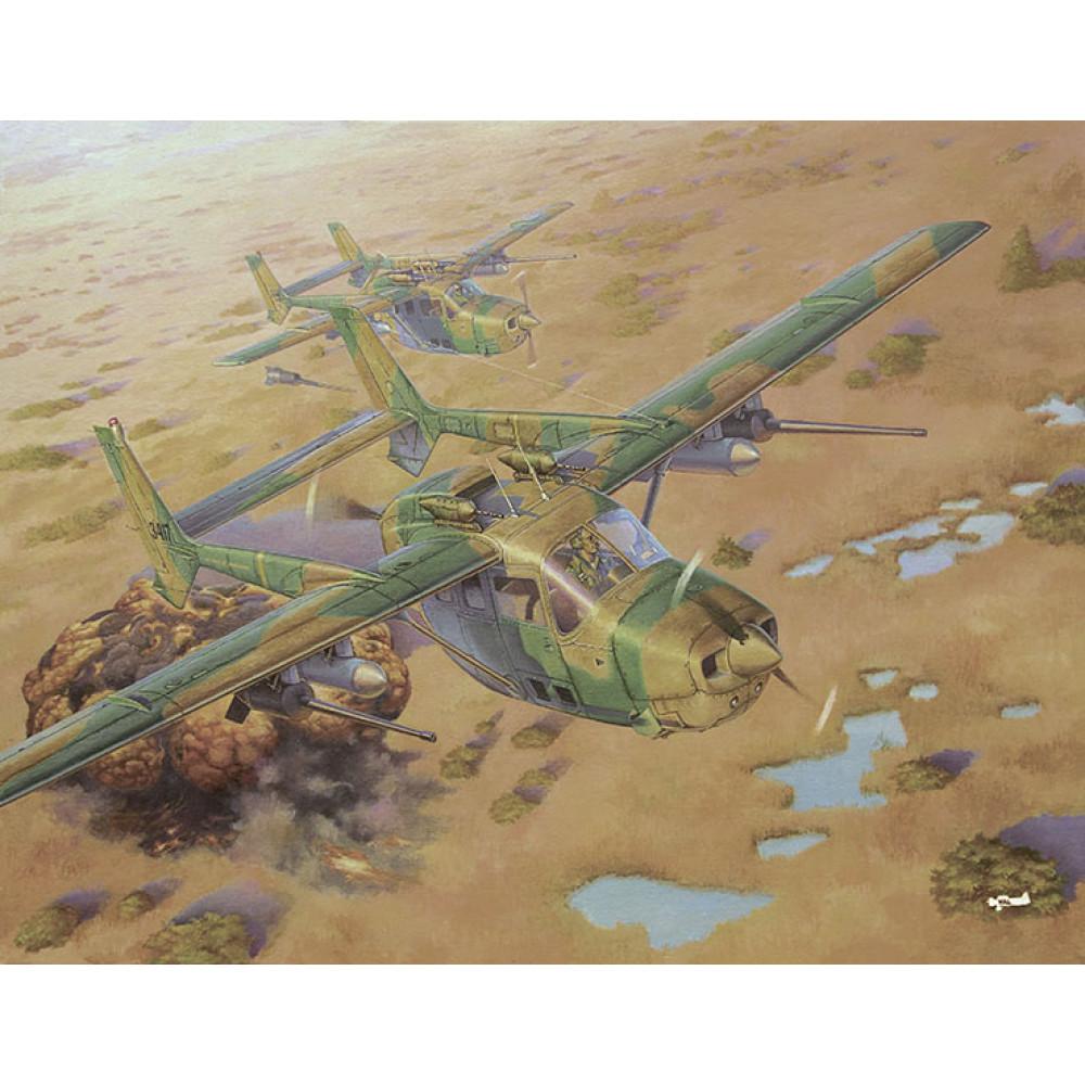 "Cessna FTB337G Lynx ""Bush war"" 1/32 Roden 628"