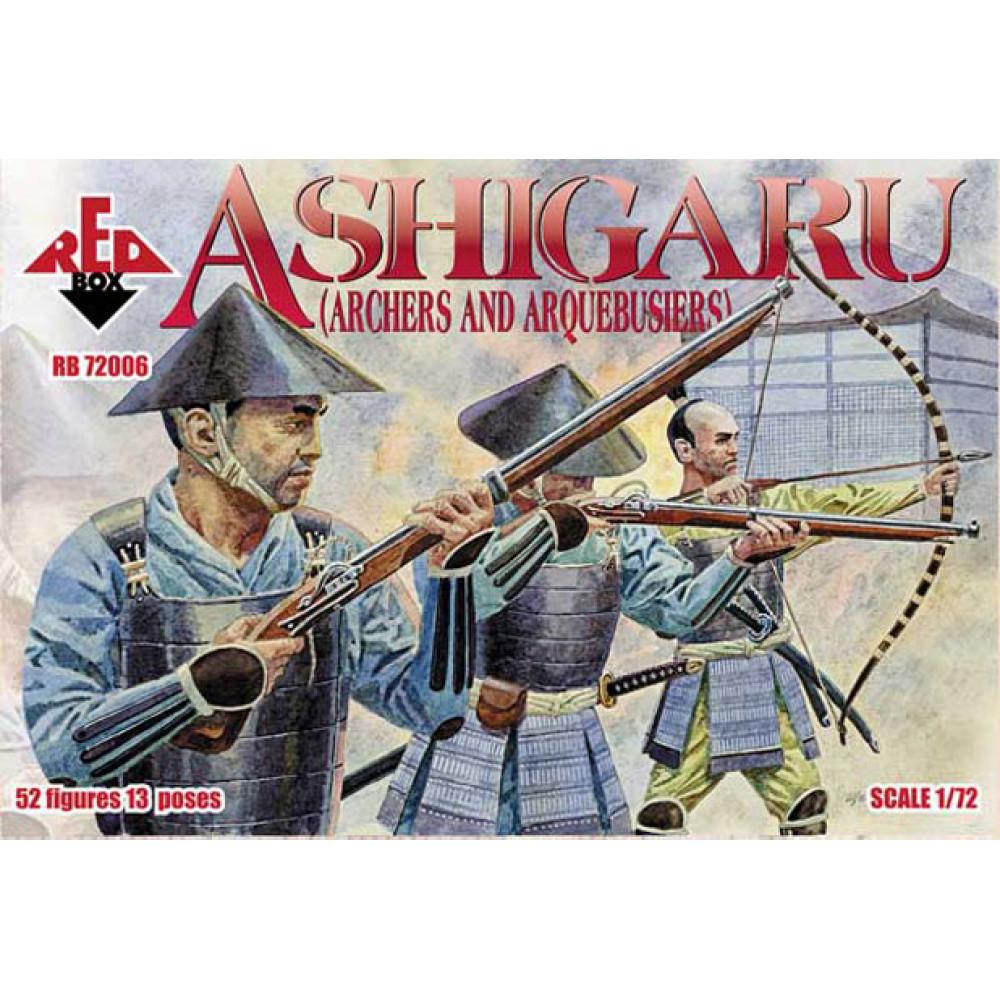 Ashigaru (Archers and Aequebusiers) 1/72 RedBox 72006