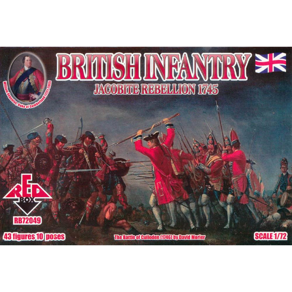 Jacobite Rebellions. British Infantry 1745  1/72 RedBox 72049