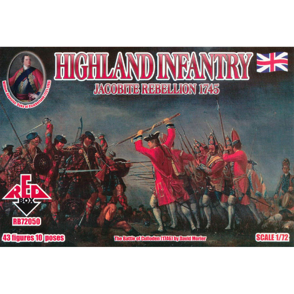 Jacobite Rebellions. Highland Infantry 1745 1/72 RedBox 72050