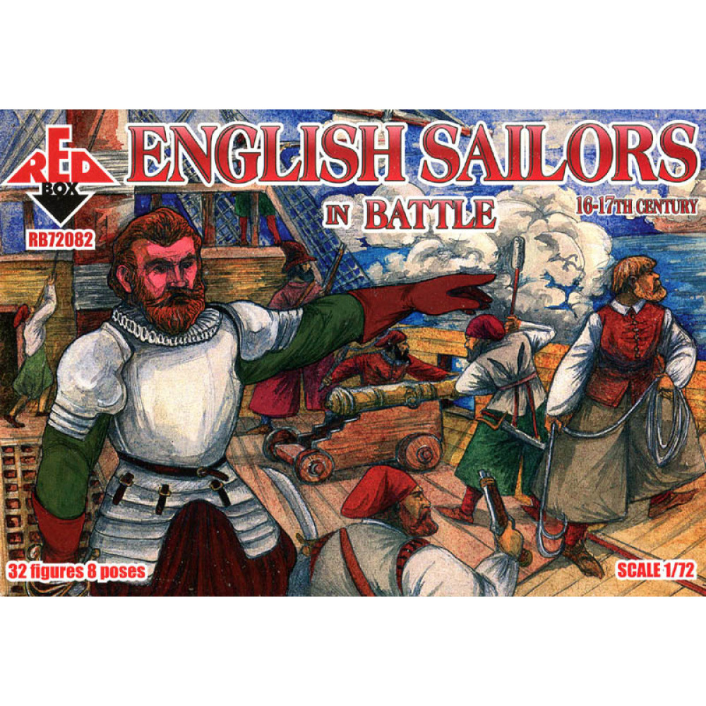 English Sailors in Battle 16-17 centry  1/72 RedBox 72082