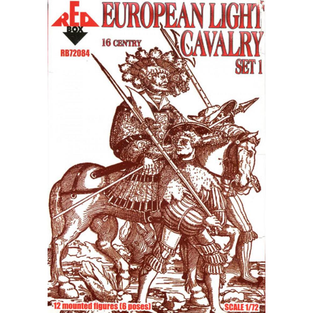 European Light Cavalry.  16 centry. Set 1  1/72 RedBox 72084