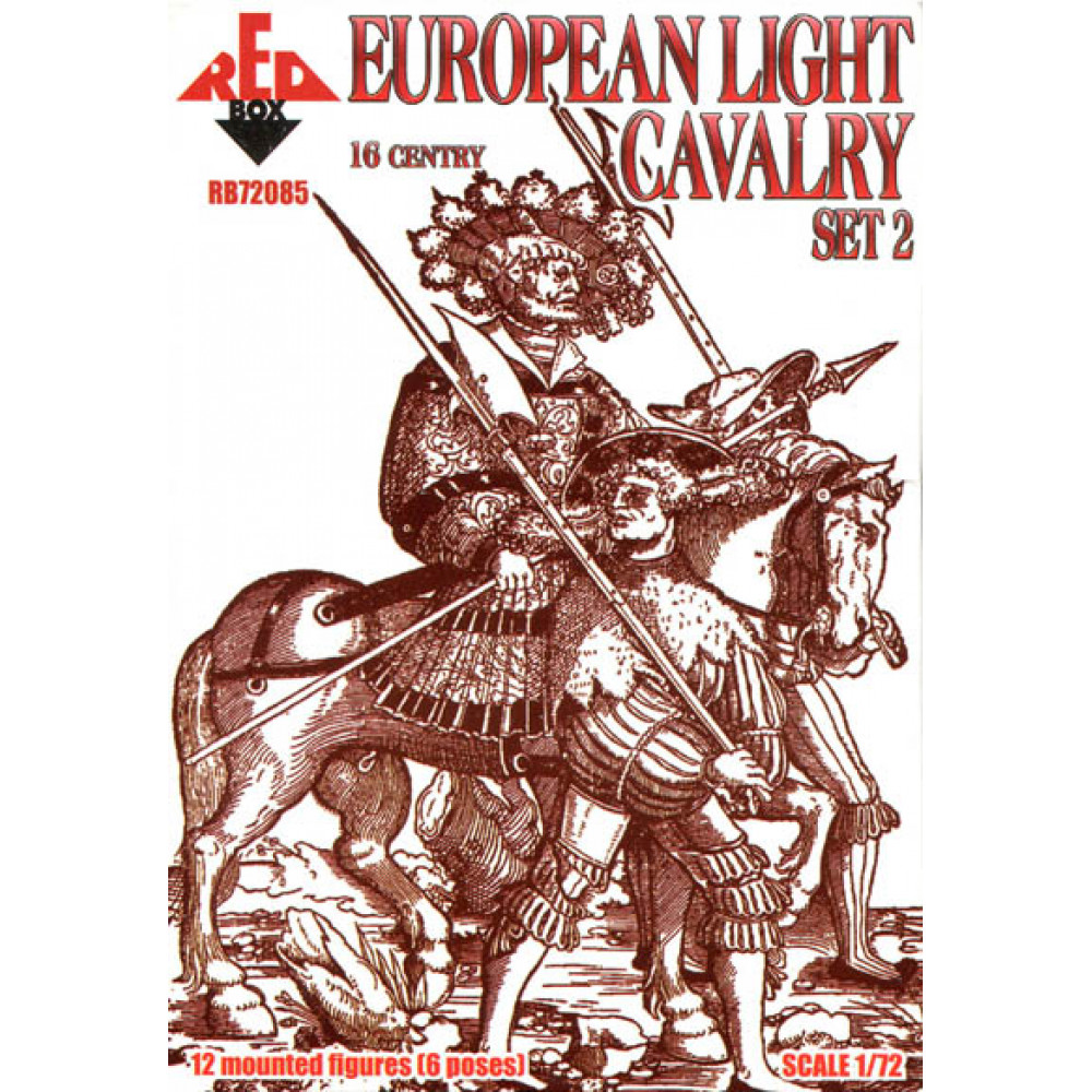 European Light Cavalry.  16 centry. Set 2 1/72 RedBox 72085