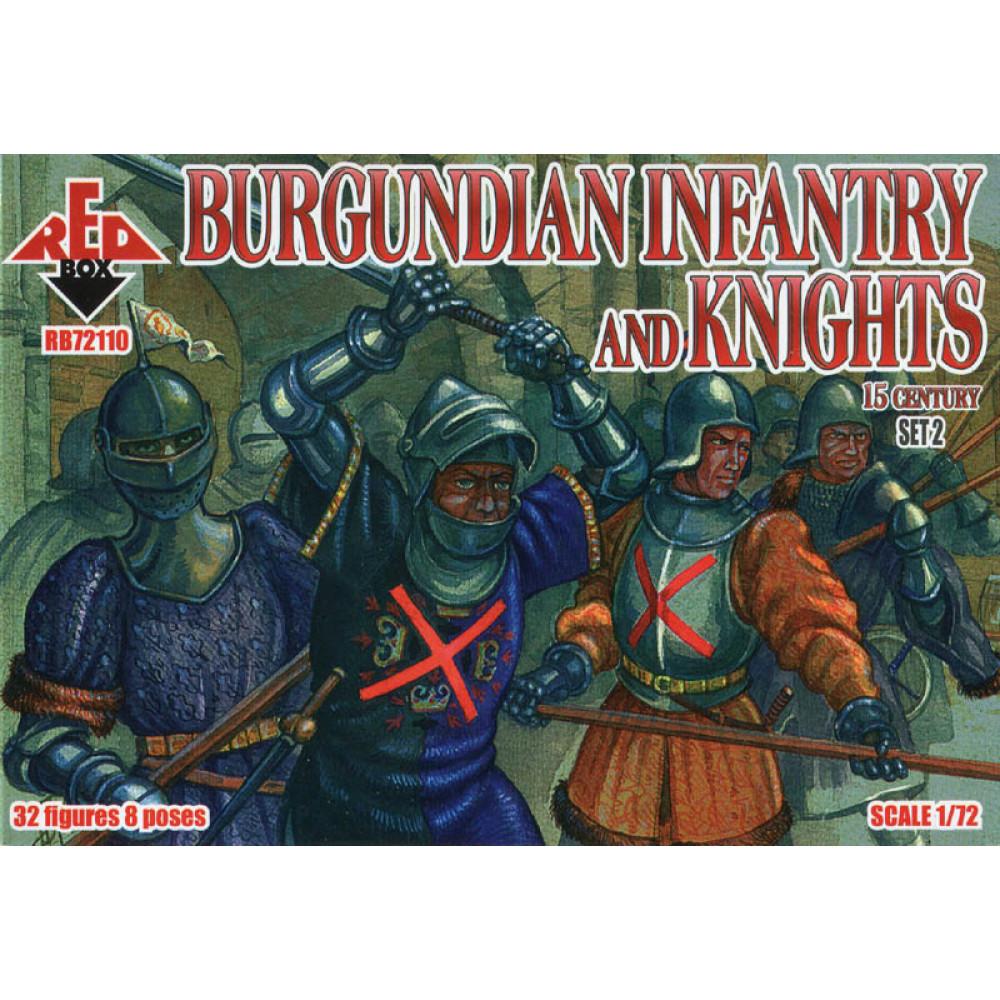 Burgundian infantry and knights (2 set). 15 century 1/72 RedBox 72110