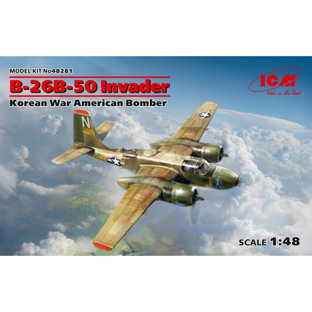 """B-26B-50 """"Инвейдер"""", Американский бомбардировщик (война в Корее) 1/48  ICM 48281"""