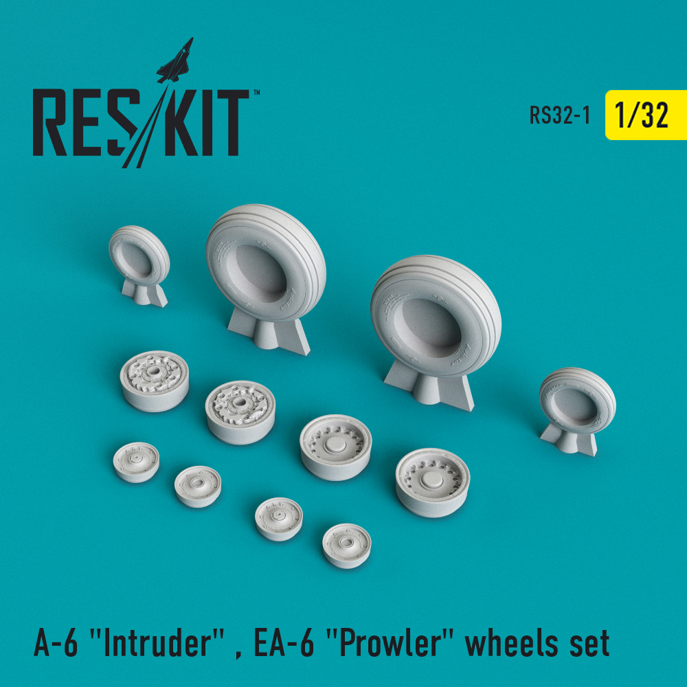"A-6 ""Intruder"" , EA-6 ""Prowler"" wheels set   1/32 ResKit RS32-0001"