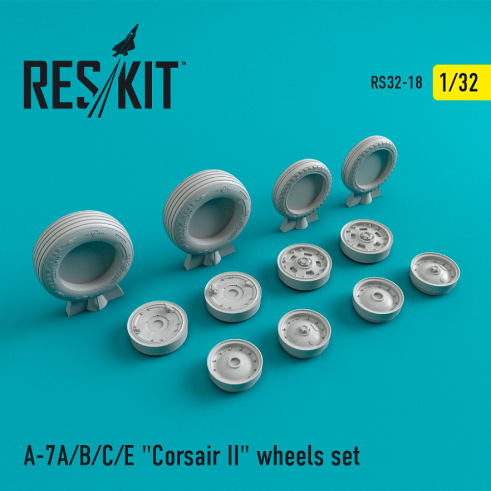 "A-7 ""Corsair II""A/B/C/E wheels set 1/32 ResKit RS32-0018"