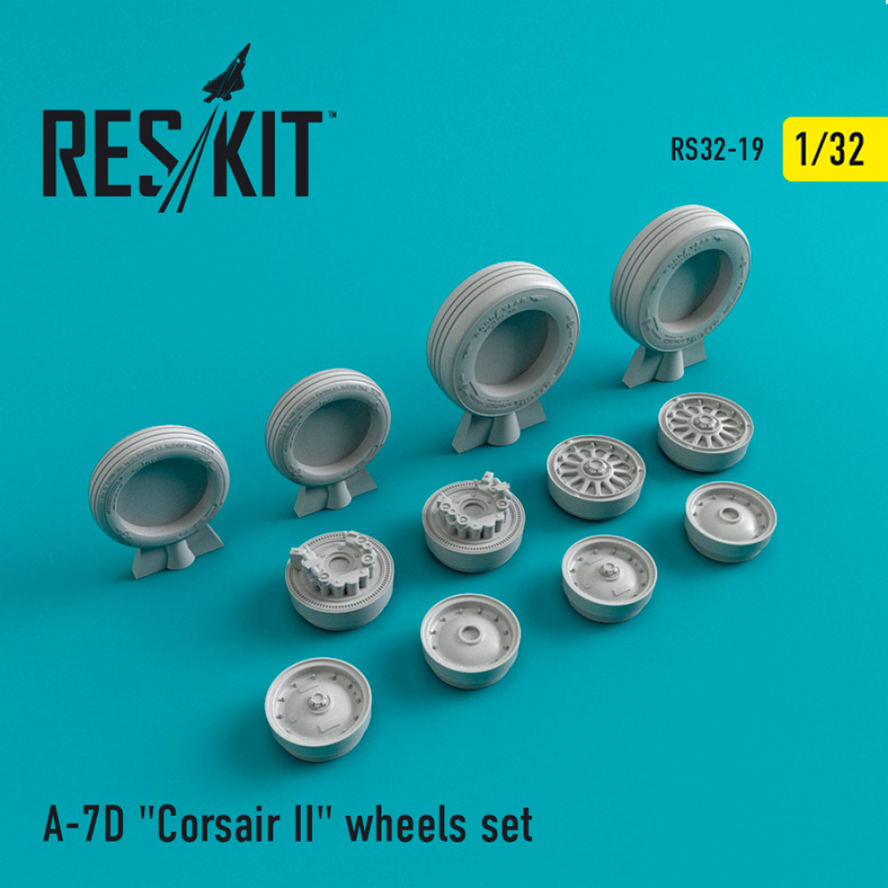 "A-7 ""Corsair II""D wheels set 1/32 ResKit RS32-0019"