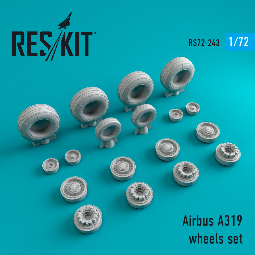 A319 wheels set 1/72 ResKit RS72-0243