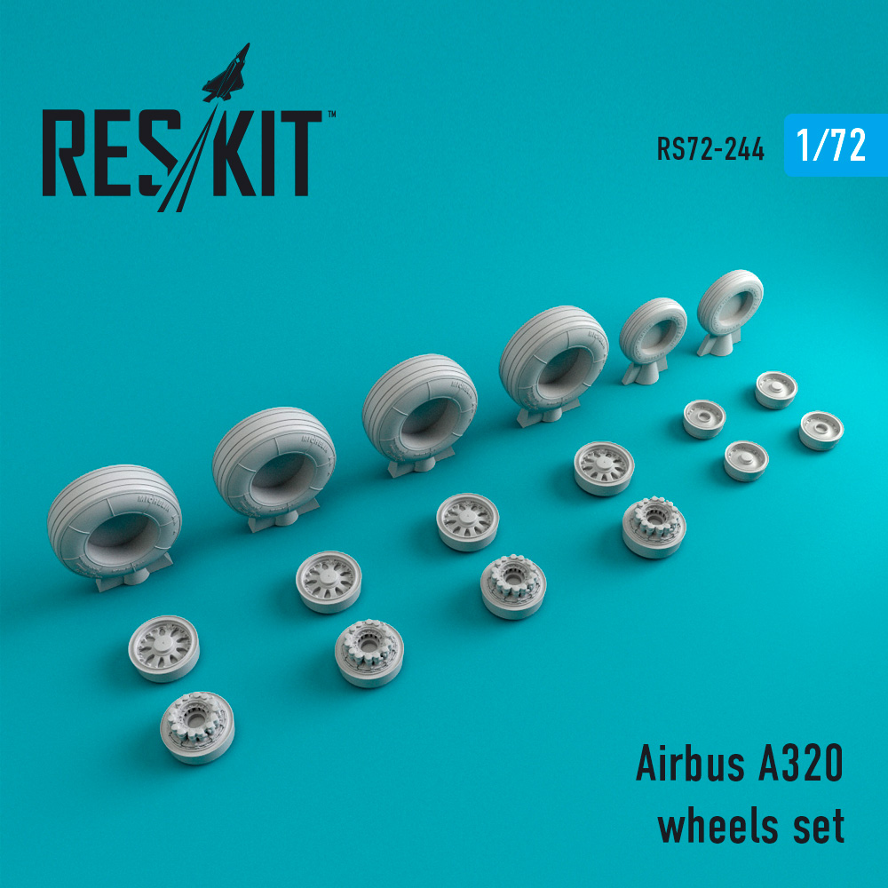 A320 wheels set 1/72 ResKit RS72-0244