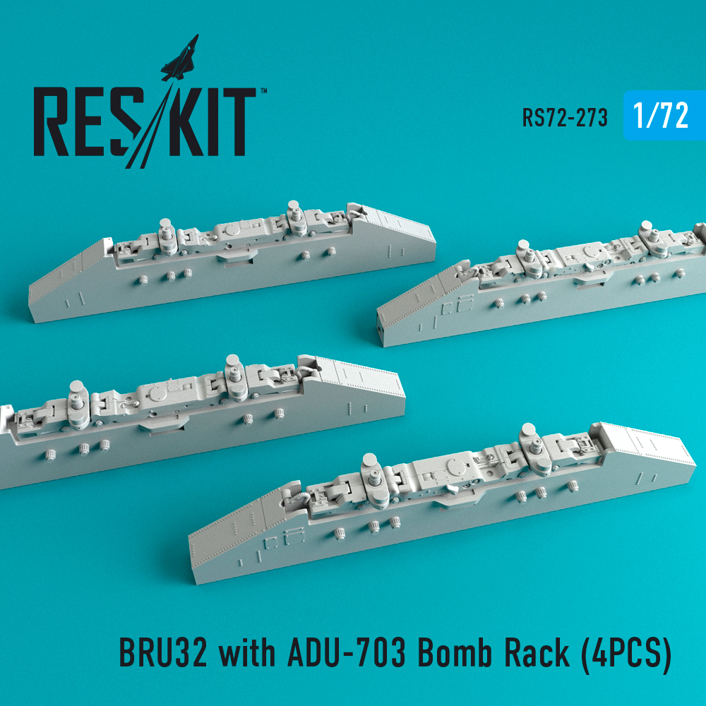 BRU32 with ADU-703 Bomb Rack (4PCS)  ResKit RS72-0273