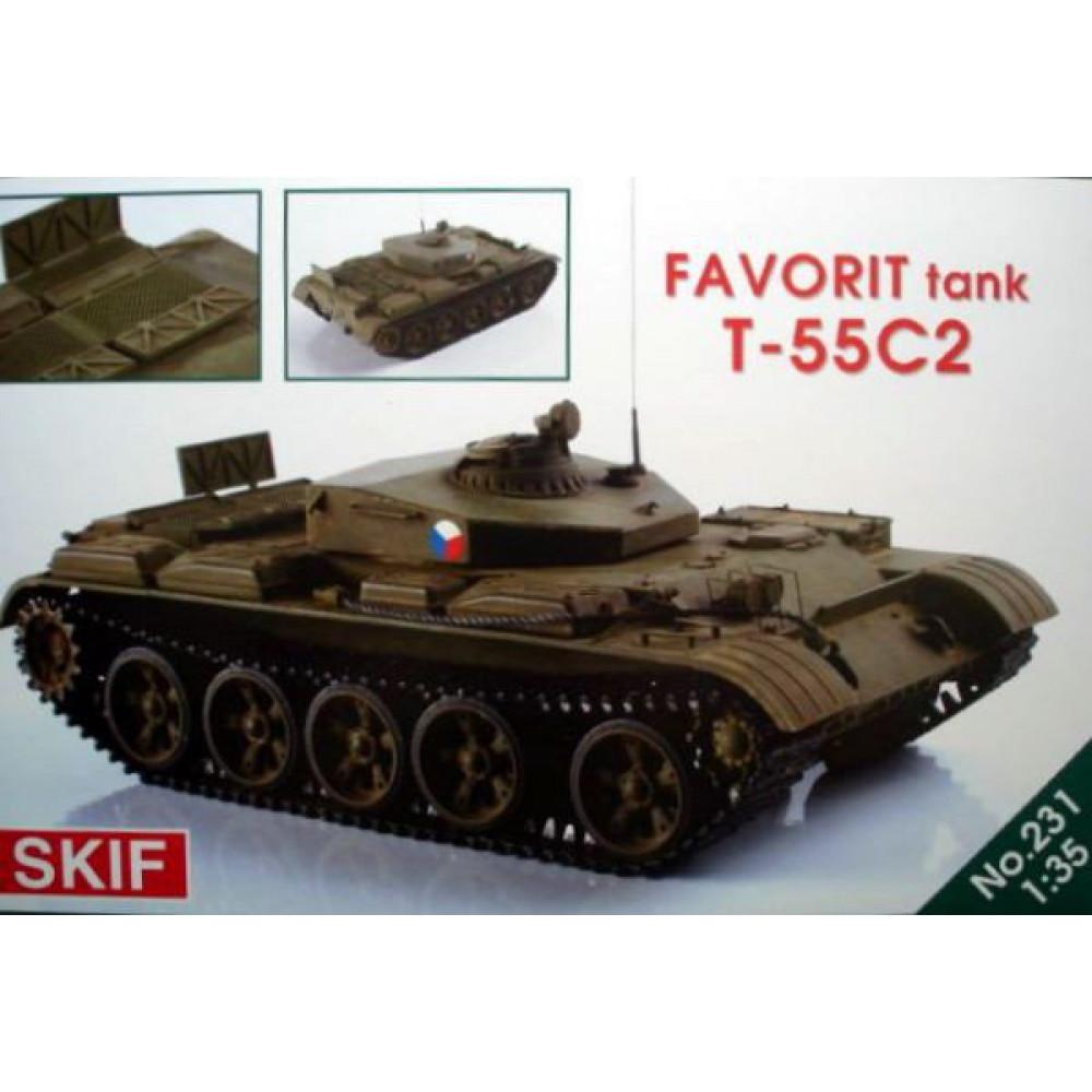 "T-55C-2 ""Favorit"" tank 1/35 Skif mk231"