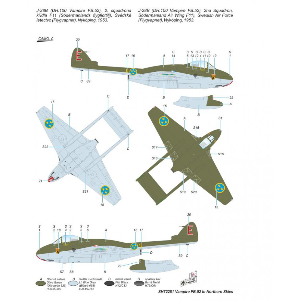 DH 100 Vampire FB Mk.52 In Nortrhern Skies 1/72 Special Hobby 72281