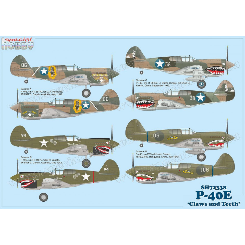 P-40E Warhawk 'Claws and Teeth' 1/72 Special Hobby 72338