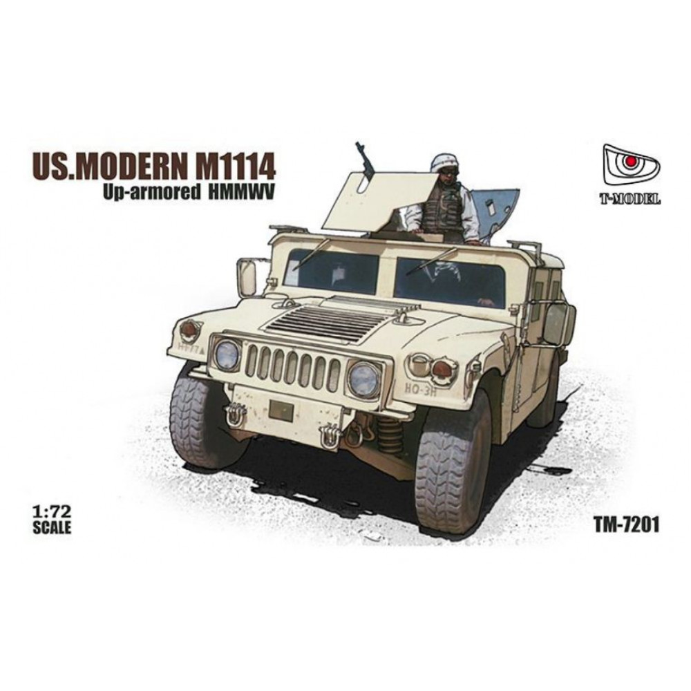 US Army Upgraded Hummer M1114 1/72 T-Model TM7201