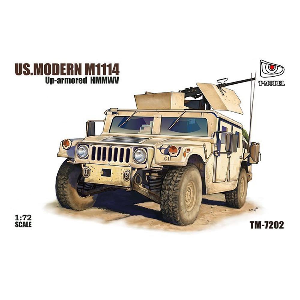 U.S. Modern M1114 Up-armored HMMWV w/GPK turret 1/72 T-Model TM7202