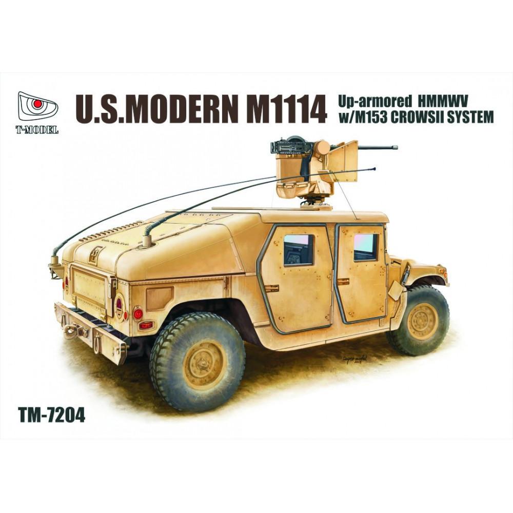 U.S. Modern M1114 Up-armored HMMWV w/M153 CrowsII System 1/72 T-Model TM7204
