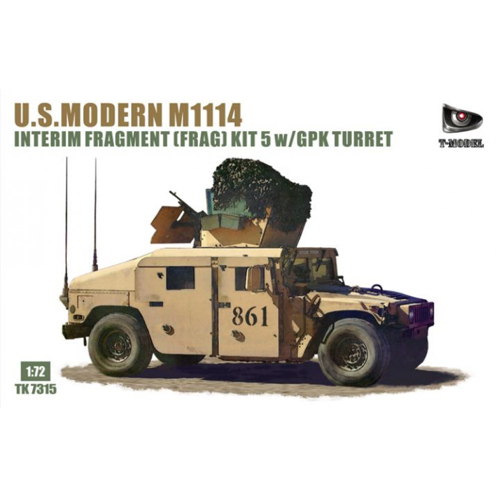 Hummer M1114 US Army with Frag5 armor 1/72 T-Model TM7315