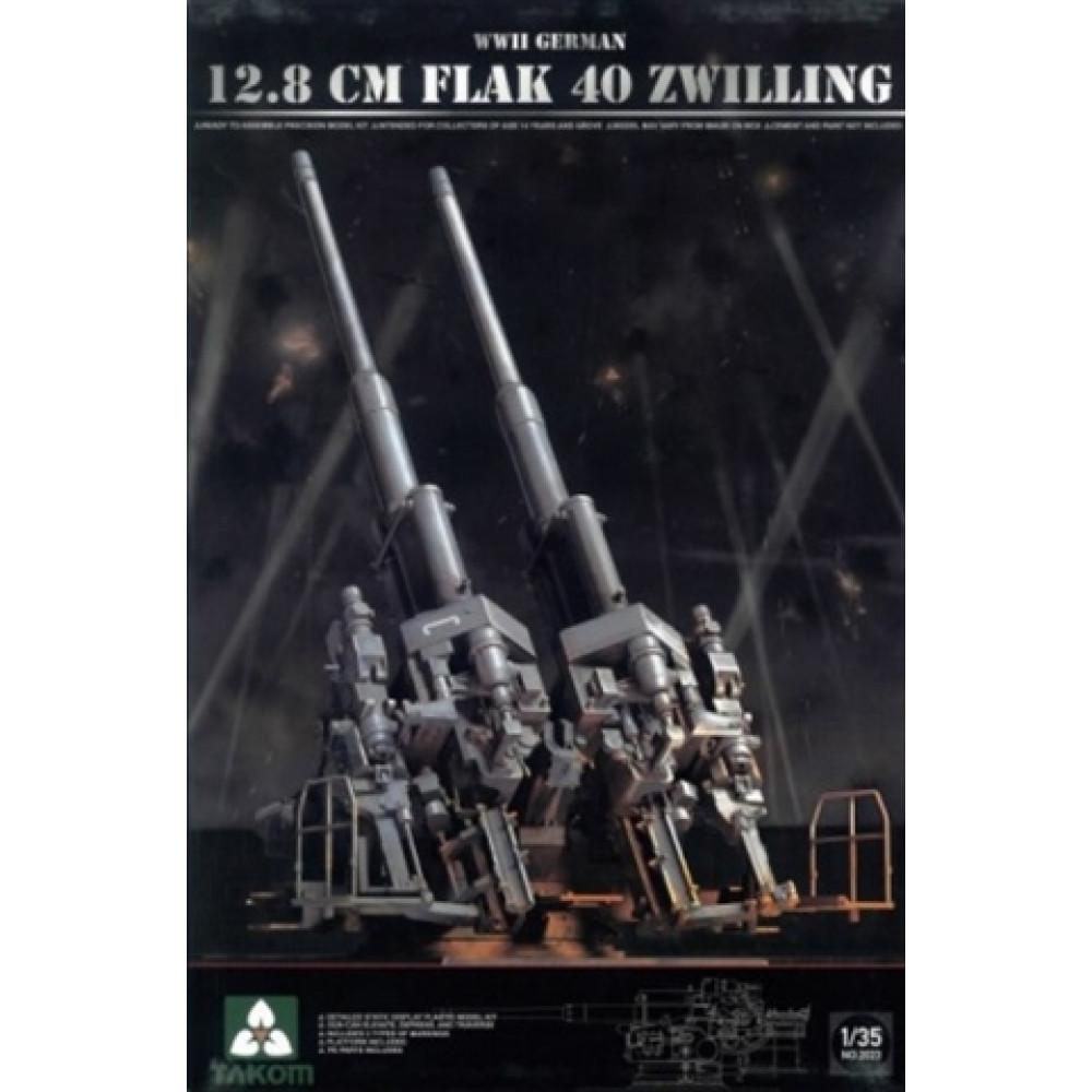 German 12,8 cm Flak 40 Zwilling  1/35 Takom 2023
