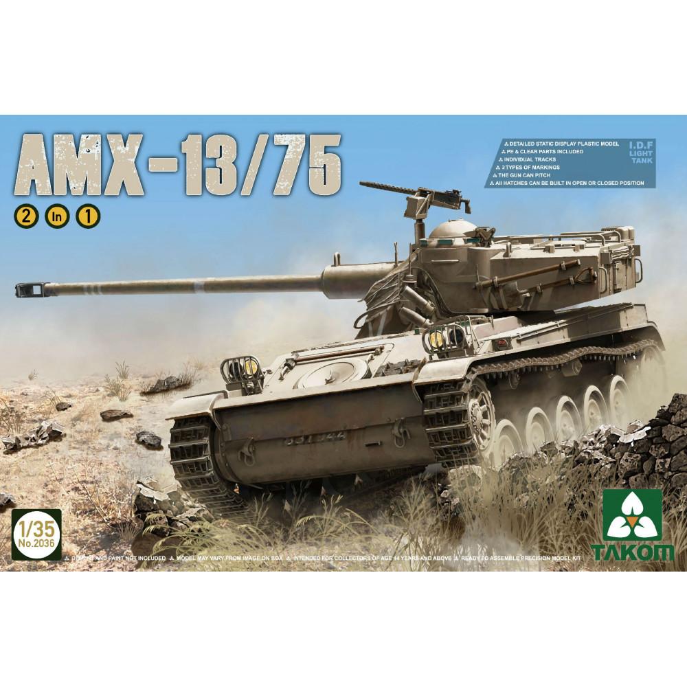 AMX-13/75 French Light Tank  1/35 Takom 2036