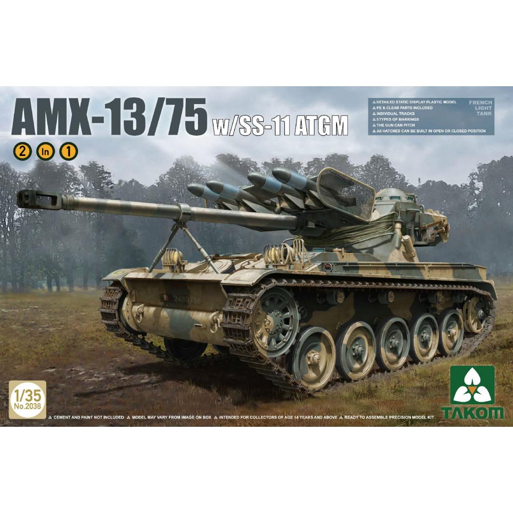 AMX-13/75 SS11 ATGM French Light Tank  1/35 Takom 2038