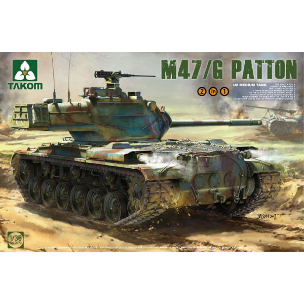 US Medium Tank M47/G Patton 2 in 1  1/35 Takom 2070