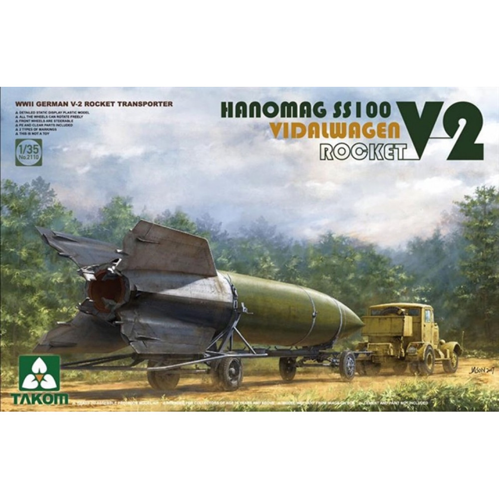 Takom 2110 Hanomag SS100 V-2 Rocket Transporter  1/35 Takom 2110