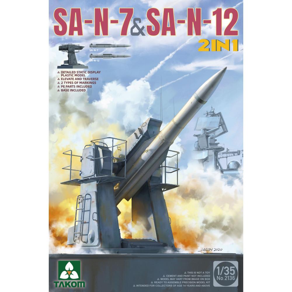 "Missile class ""ship-to-air"" SA-N-7 and SA-N-12 (2 in 1) 1/35 Takom 2136"
