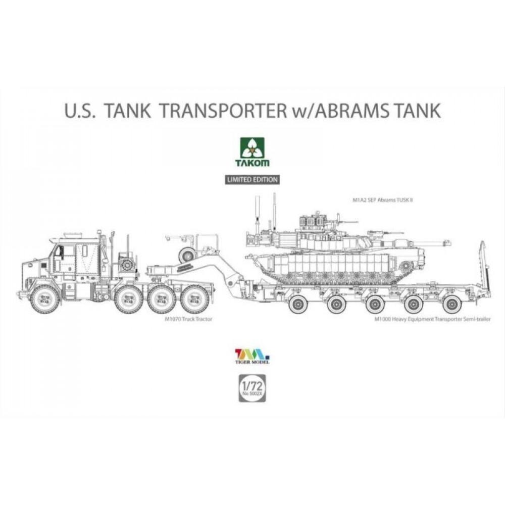 M1070 & M1000 W/M1A2 SEP Abrams Tusk II  1/72 Takom 5002x