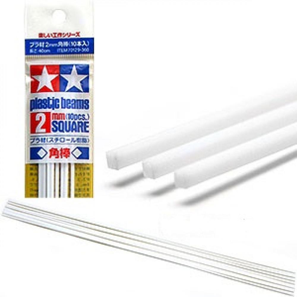 Plastic Beams 2mm Square 10pcs  Tamiya 70129