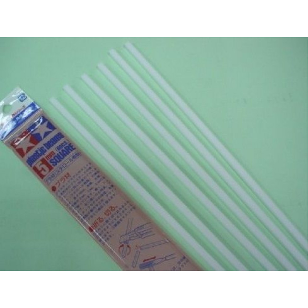 Plastic Beams 5mm Square 6 pcs  Tamiya 70131