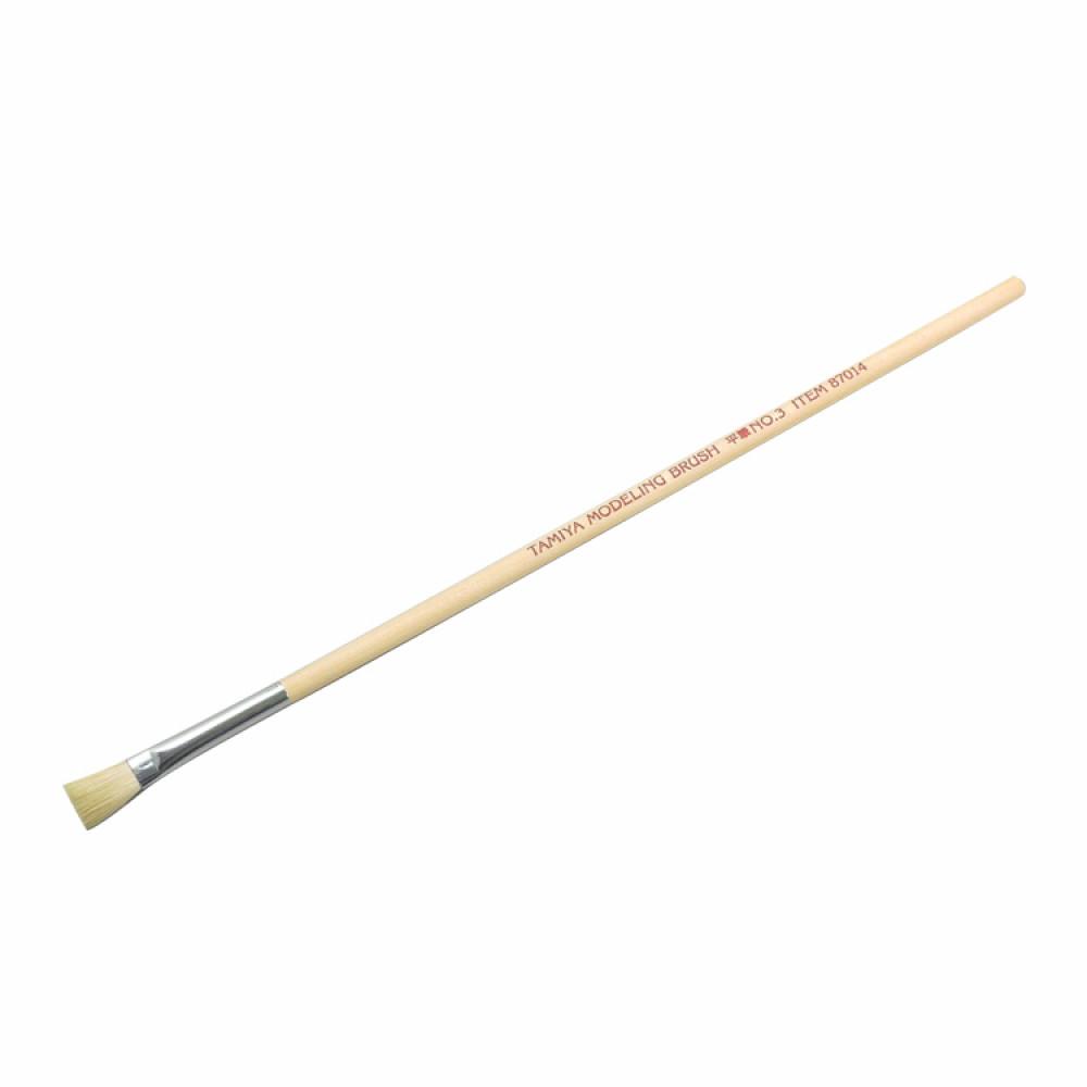 Wide brush No.3 (horsehair, wood handle) Tamiya 87014