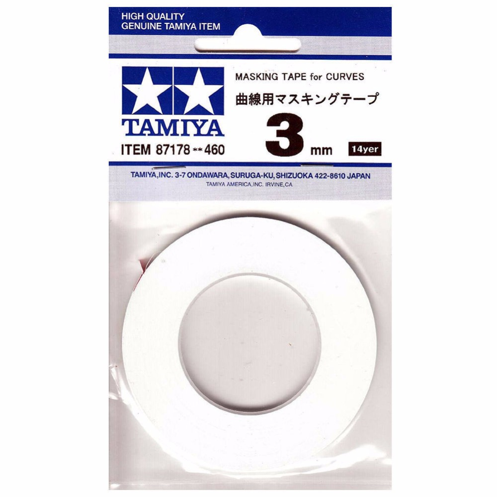 Masking Tape for Curves 3 mm  Tamiya 87178