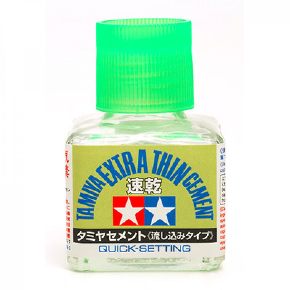 Extra Thin Cement Quick-Setting 87182 Tamiya 40 ml