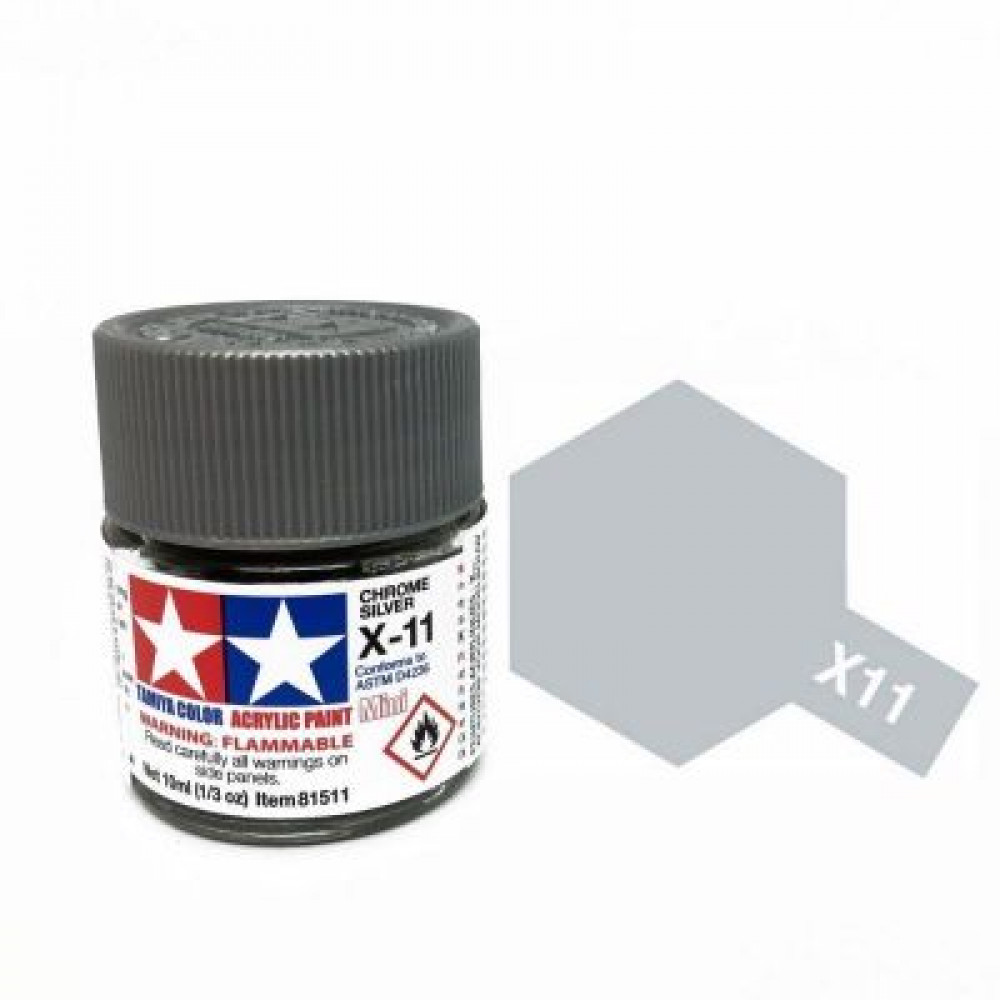 X-11 - Chrome silver (gloss) Tamiya 10 ml