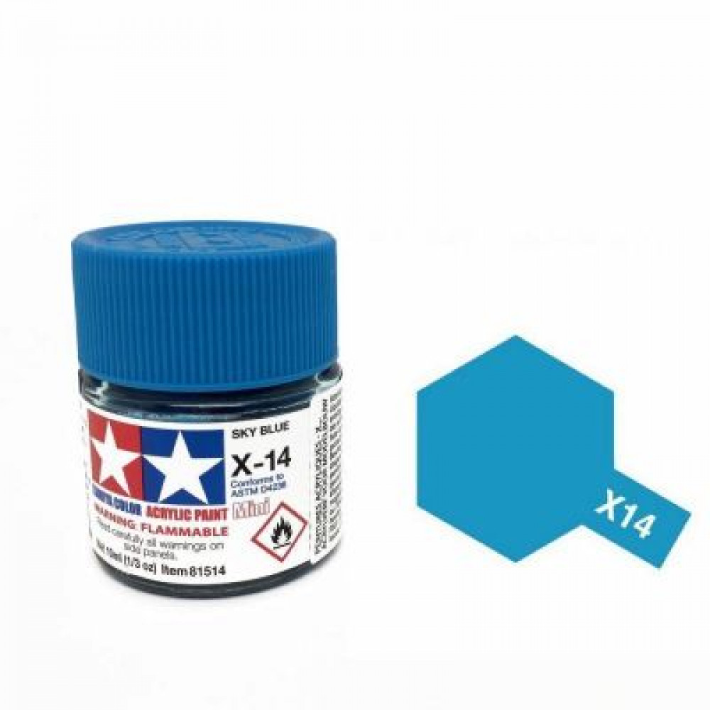 X-14 - Sky blue (gloss) Tamiya 10 ml