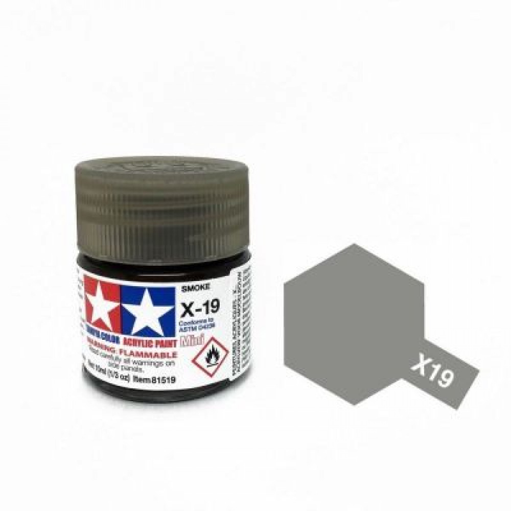 X-19 - Smoke (gloss) Tamiya 10 ml