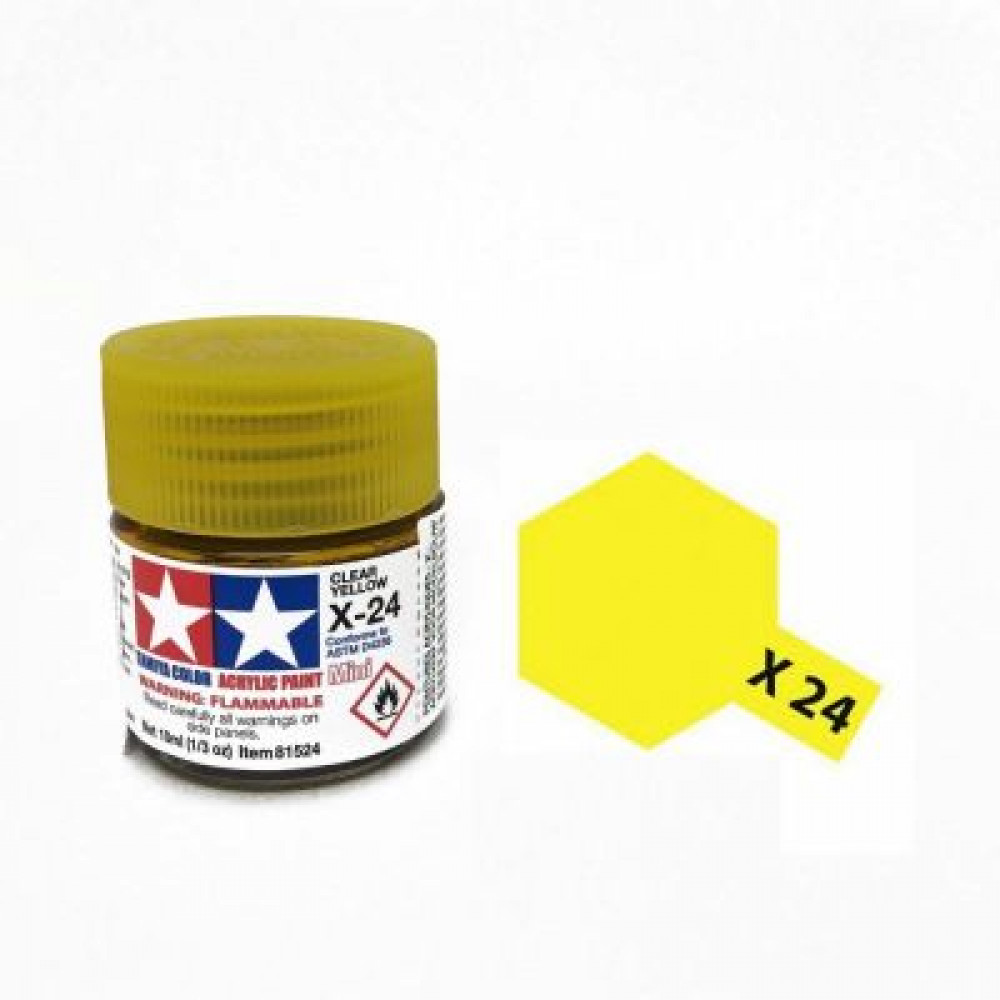 X-24 - Clear yellow (gloss) Tamiya 10 ml
