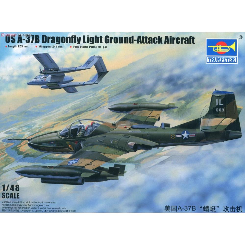 A-37B Dragonfly Light Ground-Attack Aircraft 1/48 Trumpeter  02889