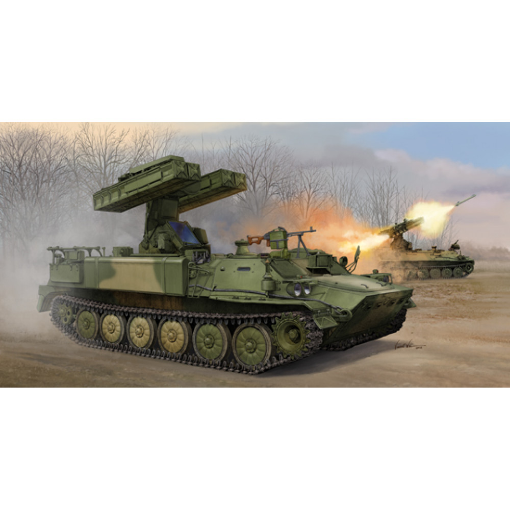 9K35 Strela-10 SA-13 Gopher Surface-to-Air Missile System  1/35 Trumpeter  05554