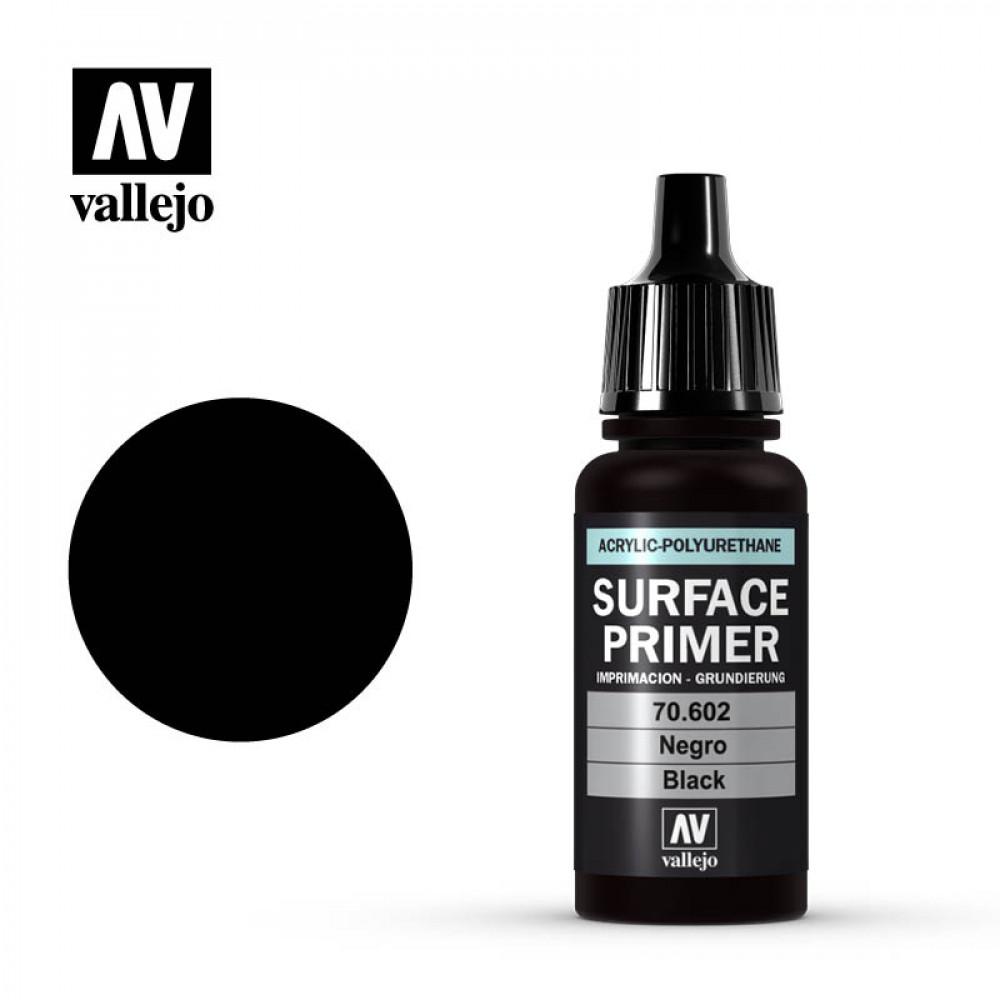 Surface Primer Acrylic-Polyurethane Black Vallejo 70602