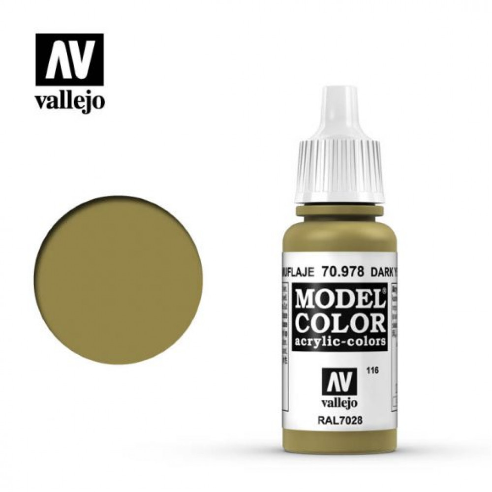 Dark Yellow 70.978 Vallejo Model Color (17ml)